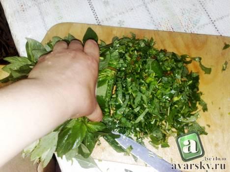начинка для Даргинского чуду с зеленью